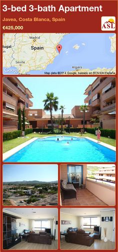 3-bed 3-bath Apartment in Javea, Costa Blanca, Spain ►€425,000 #PropertyForSaleInSpain