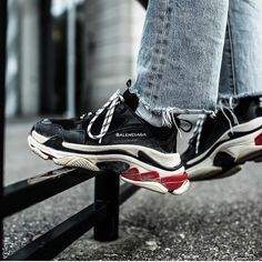 What are thoooose?! What's your opinion on the @balenciaga Triple S sneakers? by @eniotnv #sneakersmag #balenciaga #triples #sneaker