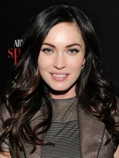 Megan Fox's ultra-dark brown is sexy and mysterious.  To get her color, ask your stylist for slightly auburn lowlights