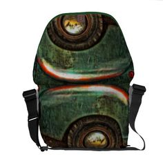 Rickshaw messenger bags 3 sizes. With Grungy Old Truck photography.