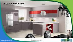 This beautiful photo contemporary high gloss lacquer kitchen red design we think efficiently mixing smart contemporary kitchen design plan, nice design look, items selection, powerful typical of ornament decoration and design idea coordination. Grey Kitchen Wallpaper, Grey Kitchen Curtains, Grey Kitchen Tiles, Grey Kitchen Designs, Gray And White Kitchen, Design Your Kitchen, Contemporary Kitchen Design, Grey Kitchens, Kitchen Colors