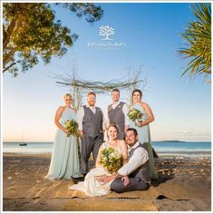 Belinda and Daniel beautiful beach wedding  Photo:Envision  #kingfisherbay #fraserislandweddings #destinationwedding