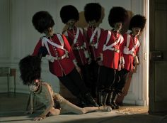 © Tim Walker, 2009. Magliosia Bela & Her  Soldiers, Glemham Hall, Suffolk, UK   Italian Vogue   www.timwalkerphotography.com