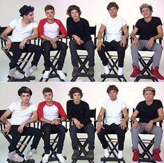 Look at Zayn's feet! The second picture looks like they were told to do sassy Louis impersonations!