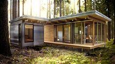 """EXP via Behance """"L'architecture contemporaine de l'EXP rompt avec celle des traditionnels chalets et cabanes en rondins, mais ses lignes épurées toutes en bois s'insèrent parfaitement dans le paysage."""""""