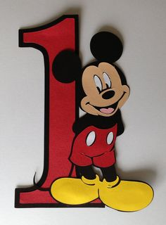 "8""  Mickey mouse party decoration"