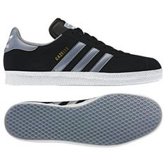 63481a368 Adidas Originals Trainers Gazelle 2 Black Tech Grey White Adidas Gazelles  were first introduced