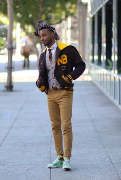Norris Danta Ford: OOTD: ROCKING THE LETTERMAN JACKET