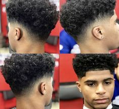Low Fade Curly Hair, Curly Taper Fade, Black Curly Hair, Curly Hair Cuts, Curly Hair Styles, Thick Hair, Black Haircut Styles, Black Men Haircuts, Black Men Hairstyles