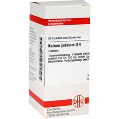 KALIUM JODATUM D 4 Tabletten:   Packungsinhalt: 80 St Tabletten PZN: 01775430 Hersteller: DHU-Arzneimittel GmbH & Co. KG Preis: 5,95 EUR…
