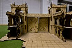lasercut and engraved gothic dystopian terrain