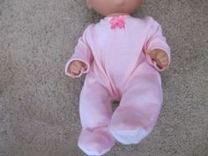 """13"""" Baby Alive Custom Made PINK Footed PJ's Pajama Stretch 12-13"""" Doll Clothes by Giftsbygammy on Etsy https://www.etsy.com/listing/471099995/13-baby-alive-custom-made-pink-footed"""
