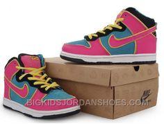 low priced 395a8 301c2 Kids Nike Dunks High Premium Sb MS Pacman Chlorine Blue Cersie New Arrival