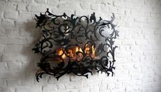 Charming Wall Mount Fireplace – Mazzetto by Redwitz   DigsDigs