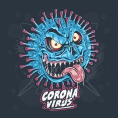 Check out this awesome 'Coronavirus' design on Corona Vector, Vector Design, Vector Art, Drawing Sketches, Art Drawings, Monster Clipart, Character Symbols, Monster Illustration, City Illustration