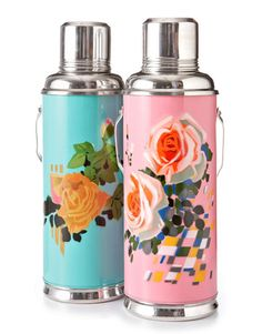 Rugged aluminum meets frilly florals on these extra-large (1.2-liter) canteens from Karma Living. ($19.95 each; 888-326-8697) - CountryLiving.com