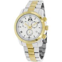 Jivago Women's Infinity Two Tone Chronograph Watch - Silver - JV5226