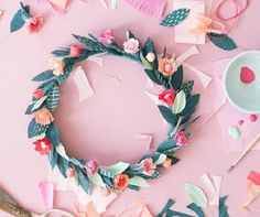 Paper Spring Floral Crown - Check out our list of 39 other DIY crown and tiaras that you can create for your next party | Coolcrafts.com