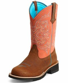 Ariat Peach Fatbaby Cowgirl Boots - Round Toe