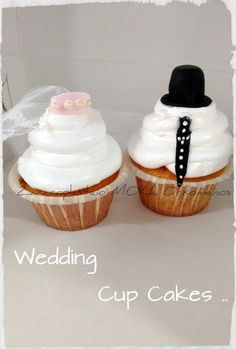 Wedding Cup Cakes Wedding Cups, Wedding Cupcakes, Cup Cakes, Desserts, Food, Tailgate Desserts, Deserts, Wedding Mugs, Cupcakes