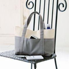 シンプルなグレーがおしゃれ!1枚仕立てで作る帆布のトートバッグの作り方(バッグ) | ぬくもり