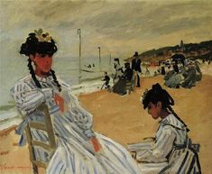 Claude Monet - On The Beach At Trouville, 1870