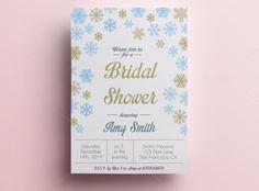 Winter Bridal Shower Invitation by annago on @creativemarket