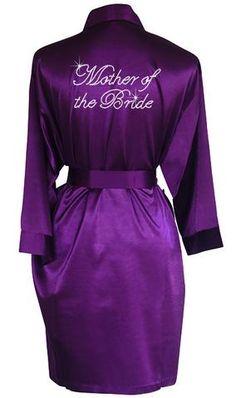 Rhinestone Back Title Personalised Robes – Klassy Bridal Birthday Smiley, Bridal Party Robes, Bridesmaid Robes, Wedding With Kids, Bride Gifts, Silk Satin, Wedding Colors, Rhinestones, Orchid