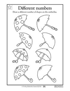 Decorating umbrellas - Worksheets & Activities | GreatSchools