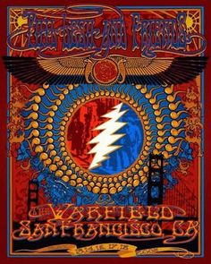 Original concert poster for Phil Lesh & Friends at the Warfield in San Francisco    on May 13,14, 16,17,18, 2008. This is the closing of the Warfield PLF poster. Bobby Played first night~with Phil. 7 Color Screen Printed. Poster Size: 16in. x 20 in. Artist Richard Biffle