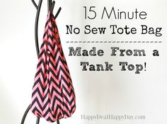 Kangaskassi hihattomasta paidasta 15 minuutissa. How to make bag from a tank top!  It takes 15 minutes.