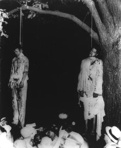 """""""Strange Fruit"""" is what Billie Holiday called such scenes in the song Strange Fruit. It was a powerful protest song, written by Abel Meeropol in 1937, after he had looked upon the 1930 photograph of a lynching that occurred in Marion, Indiana. There is some debate that the song is not art, but rather propaganda, albeit that her song is *honest, fact-based* propaganda, a message designed to discomfit apathetic minds."""