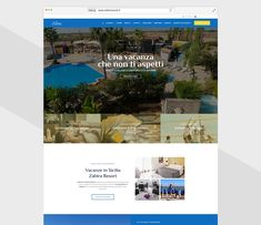 Creazione sito web, strategia social Zahira Resort - Pandemia Web Agency Desktop Screenshot, Socialism