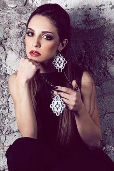 Collana e orecchino  ARTKONSU   gioielli in plexiglass
