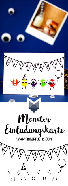 Make your own Monster birthday invitation card Diy Birthday Invitations, Monster Birthday Invitations, Halloween Tipps, Make Your Own Monster, Fingerprint Cards, Funny Sign Fails, Funny Memes, Monster Party, Birthday Fun