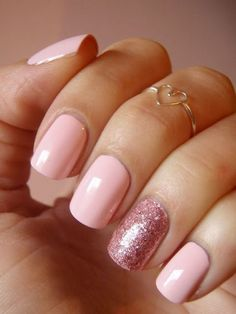 Complete your look for with one of these cute nail polish ideas. Complete your look for with one of these cute nail polish ideas. Complete your look for with one of these cute nail polish ideas. Love Nails, Pretty Nails, Color Nails, Nexgen Nails Colors, Chic Nails, Pink Glitter Nails, Pastel Nails, Red Glitter, Nail Pink