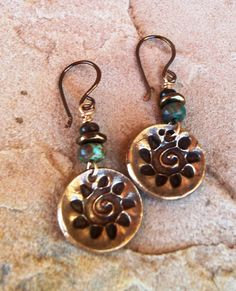Hey, I found this really awesome Etsy listing at http://www.etsy.com/listing/115015627/bronze-earrings-spiral-sun-earrings