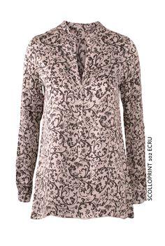 Scolloprint 102 Ecru von KD Klaus Dilkrath #kdklausdilkrath #kd #dilkrath #kd12 #outfit #scollo #print #blouse #shirt #ecru #paisley