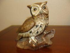 Vintage Owl Bird Porcelain Figurine Figurines by catherinefarrens, $6.99