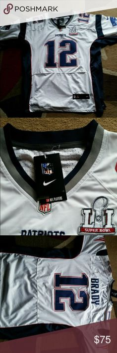Tom Brady Super Bowl LII Jersey. This is a brand new Tom Brady Super Bowl LII jersey. Fully sewn. Nike Other