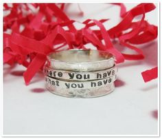 Double Spinner Ring  Personalized Sterling par CharitableCreations, $76,95