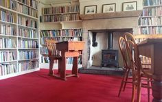 The library at Ted Hughes' home, Lumb Bank, Yorkshire