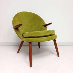 Kurt Olsen, teak armchair, 1950's