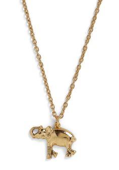 #Elephant #necklace #gold