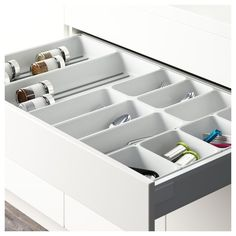 Helps keep the kitchen drawer organized, so you can spend more time on setting the table nicely and less on looking for lost cutlery. A simple and practical cutlery tray in plastic that's easy to clean. Ikea Kitchen Drawer Organization, Ikea Drawer Organizer, Ikea Kitchen Drawers, Ikea Drawers, Drawer Dividers, Drawer Organisers, Kitchen Storage, Storage Organizers, Pantry Organization