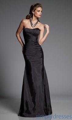 Strapless Silk Taffeta Bridesmaid Dress by Mori lee - Brought to you by Avarsha.com