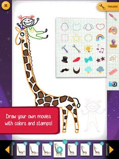 GoldieBlox and the Movie Machine - nice free iOS app for creating movies w/ drawing & stamps