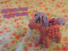 Miniature Polymer Clay My Little Pony Firefly  Horse Charm Tutorial (+pl...