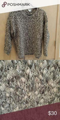 J Jill sweater Excellent condition JJill sweater.. Size L...Super warm and cozy for those chilly nights...tan, grey,brown color J. Jill Sweaters Crew & Scoop Necks