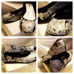 Custom Anime Manga sailor moon Decoupage Shoes (Flats)